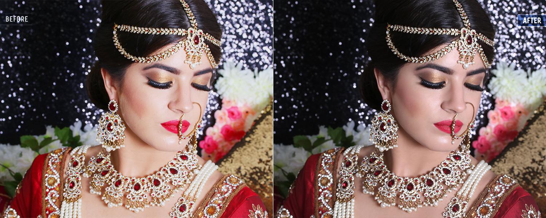 wedding portrait photo editing