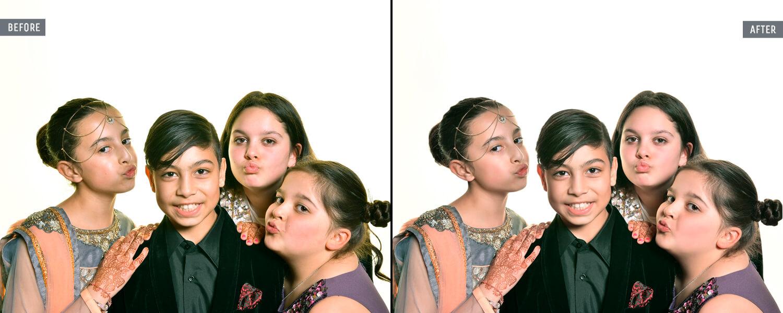 children portrait retouching services.